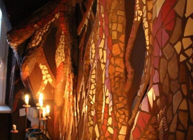 Mosaik-Wand WC(1)