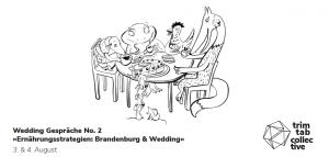 Wedding Gespräche No. 2 »Ernährungsstrategien: Berlin & Brandenburg« @ Freitag@Baumhaus; Samstag@himmelbet